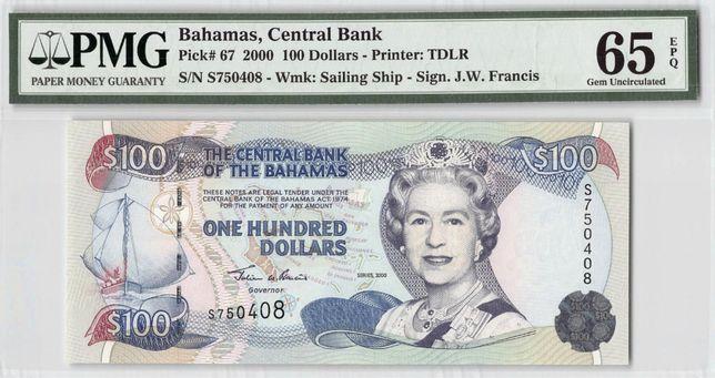 Bancnote Queen Elizabeth II gradate PMG Bahamas Belize Cayman Fiji ECS