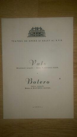 Caiet program Teatrul de Opera si Balet RPR anii 1960, 1964 lot 6 buc.