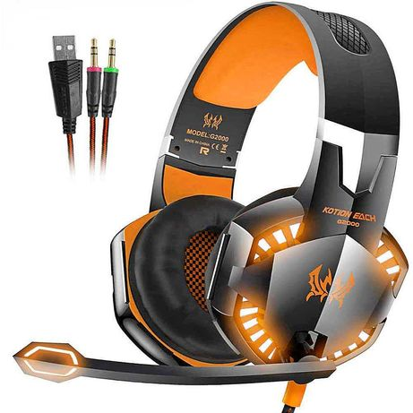 ТОП! PRO Геймърски слушалки с USB Гейминг слушалки с микрофон