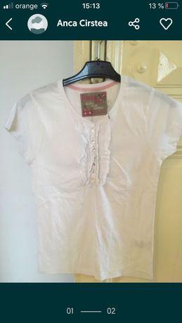 tricoul alb bumbac, dama