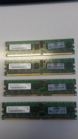 Продавам модулуи рам памет 4х1GB PC2-5300P ECC DDR2-667