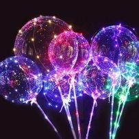 Светящиеся шары!Led шар! + в подарок НАСОС! шары бoбо!