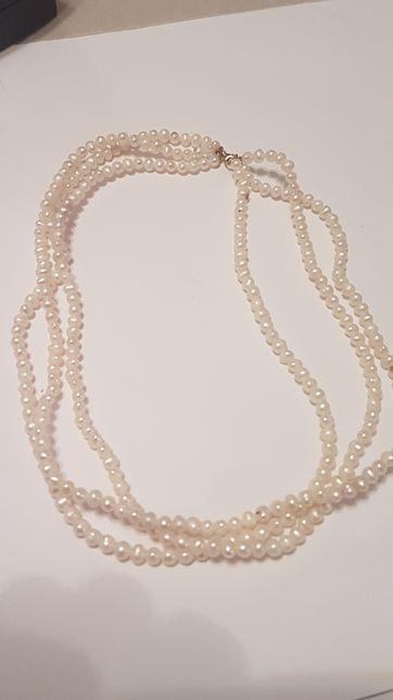 Colier perle naturale cu aur