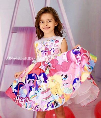 My little pony дизайнерска рокля 5 год ръст до 110см