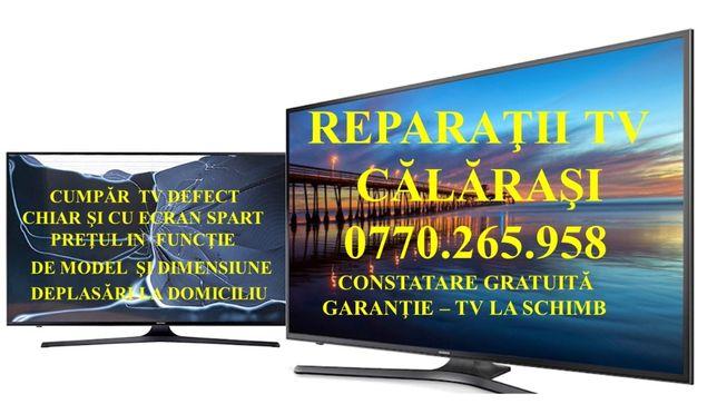 Reparaţii TV Călăraşi Service Televizoare Piese de schimb Led Lcd