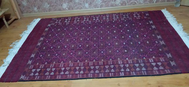 Туркменский палас, ручной работы  6