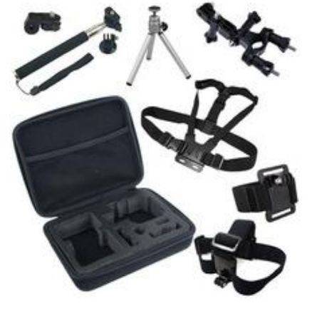 GK6 нов комплект аксесоари за екшън камери 8 части GO PRO SJCAM,EKEN
