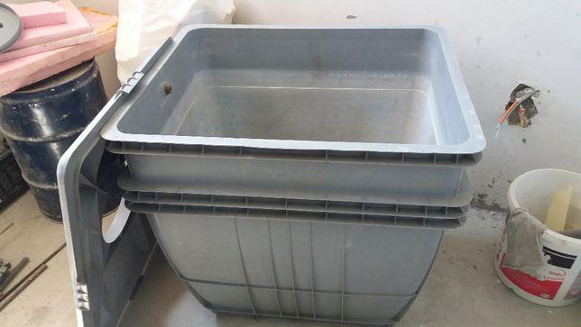 Bazin plastic 300 litri, cu capace