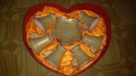 Кофейный сервиз-набор. Подарок. Красивый, в форме сердца. Обмен