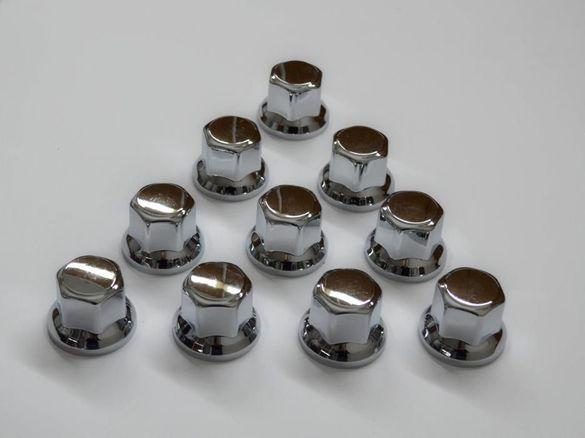 Хромирани капачки за болтове за гуми/джанти на камиони къси WNC30