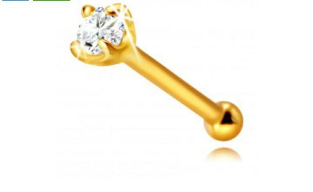 Piercing Nas Aur!  Cercel Aur 14k! 160 ron !Nou