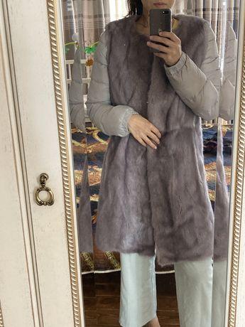 Норковая шуба-пуховик