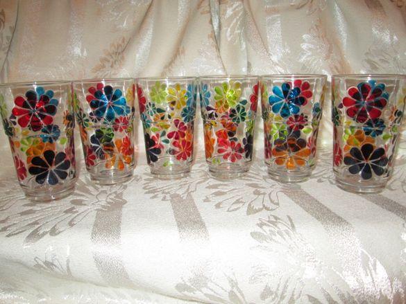 Ръчно Рисувани чаши Luminarc