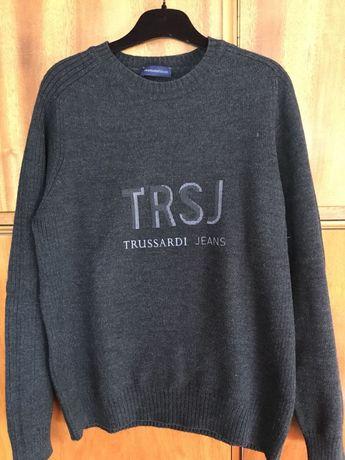 Мъжки пуловер Trussardi,Made in Italy, перфектен пуловер на един сезон