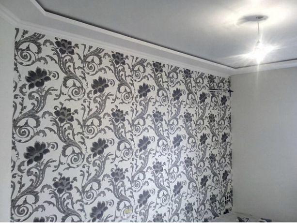 Косметический ремонт квартир, поклейка обоев, галтели, покраска стен