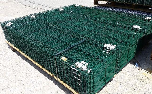 Plasa / panou gard bordurat verde, toate dimensiunile + stalpi verzi
