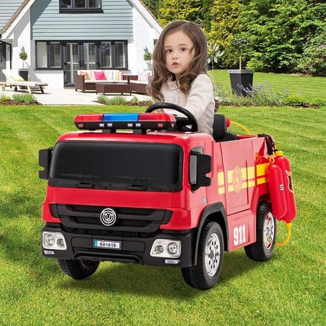 Masinuta electrica Kinderauto Fire Truck Hollicy STANDARD #RED