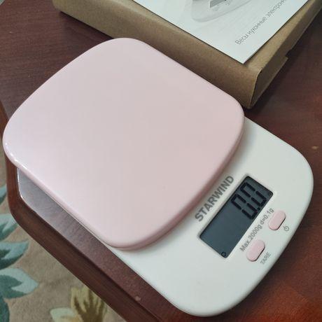 Продам кухонные весы розового цвета