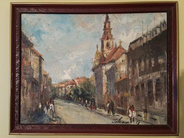 Pictura ulei pe panza Mihai Takacs str EMINESCU