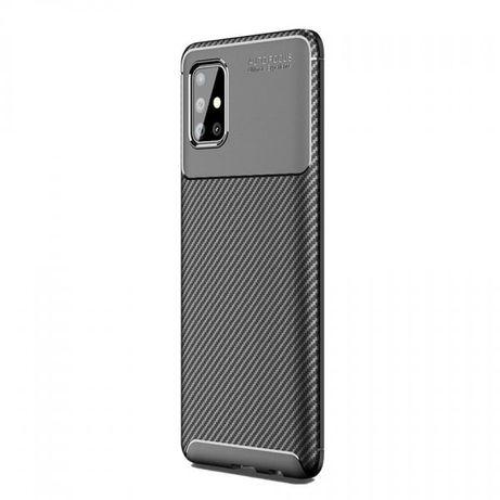 Husa Silicon Carbon Neagra - Samsung A51 A71 A21S A30S A41 A42 A20S