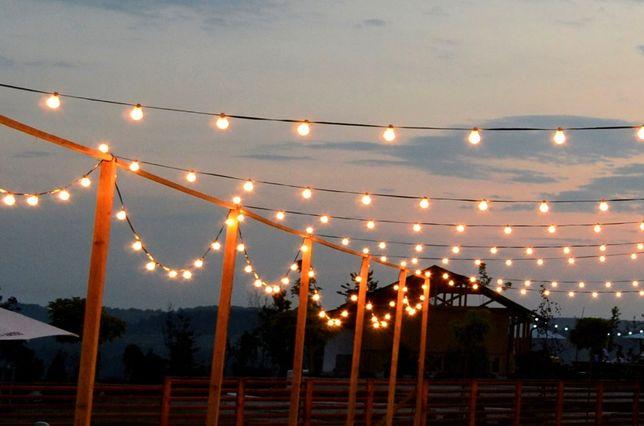 Ghirlanda Luminoasa lungime 50 m,cu 50 becuri,terasa,de exterior