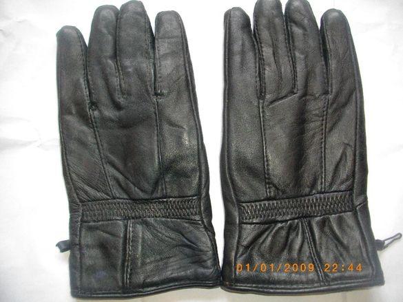 Ръкавици-Естествена Кожа-Дамски-С Подплата-Немски-Почти Нови