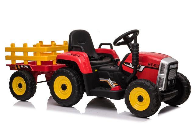 Tractoras electric BJ-611 cu remorca si telecomanda STANDARD #Rosu