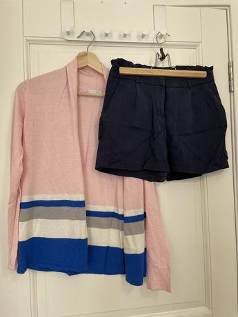 Комплект шорты Naf naf и кардинан silk & cashemere
