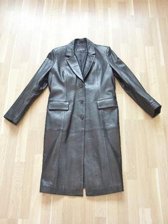 Haina, palton, pardesiu, piele, negru, femei, ca NOUA.
