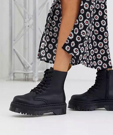 Bocanci Dr Martens Jadon chunky boots in vegan black marime 37