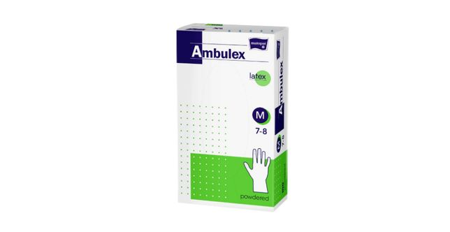 Manusi unica folosinta Ambulex Latex S 100 Bucati Cutie