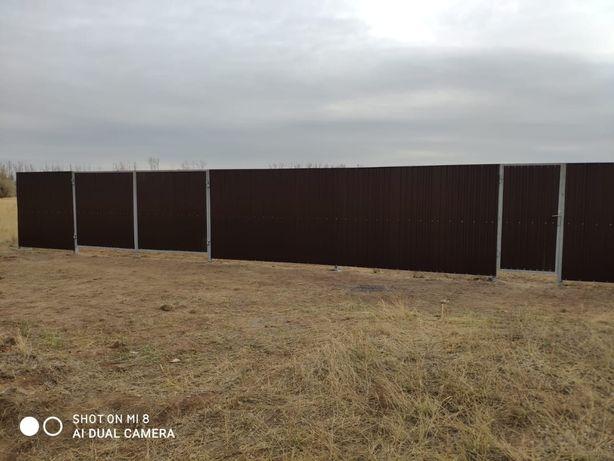 Забор, забор из профнастила, ограждения, заборы, ограждения участков,