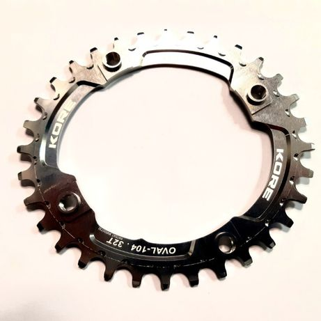 32t - 104 Stronghold Oval Narrow Wide Silver Chainring Овална Плоча