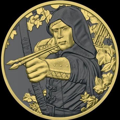 Monedă argint Austria 2019  ROBIN HOOD.  Foarte RARĂ