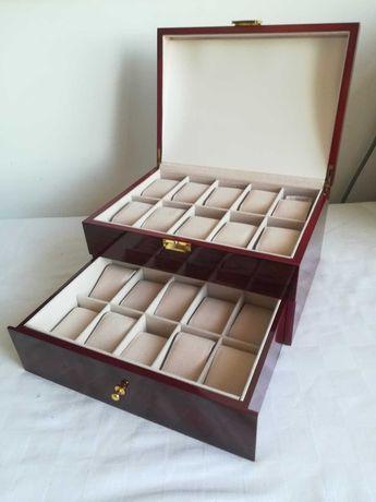 Cutie Caseta Depozitare Ceasuri Lemn pentru 6,10,12,20 și 22