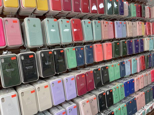 Silicon case чехлы на все модели айфонов