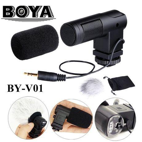 Стерео микрофон BOYA BY-V01  Накамерный