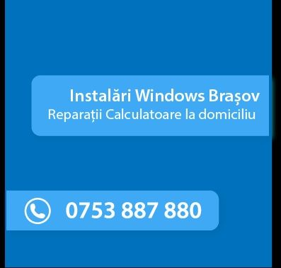 Reparatii Calculatoare/Instalare Windows/Router la domiciliu in Brasov Brasov - imagine 1
