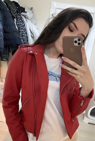 Куртка Zara кожзам