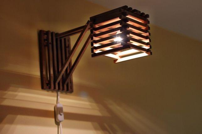 Lampa perete din lemn de mahon