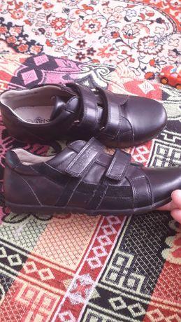 Кожаные туфли для школы на мальчика