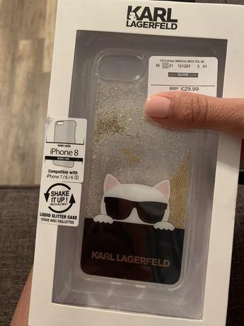 Carcasa glitter iphone 8 , compatibila cu iphone 7 /6 / 6s . Originala