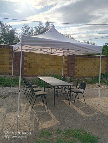 Шатры палатки прокат аренда Столы, стулья, шатер, посуда, газон искус.