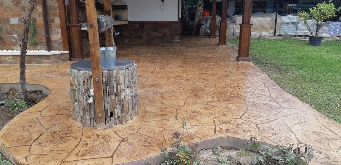 Щампован бетон вертикално и хоризонтално