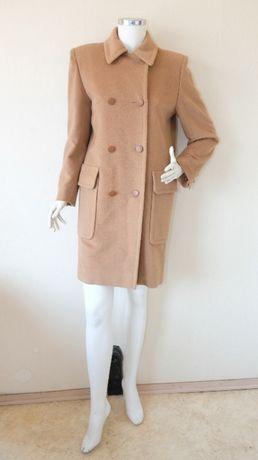 Hermes Оригинално дамско палто от камилска вълна