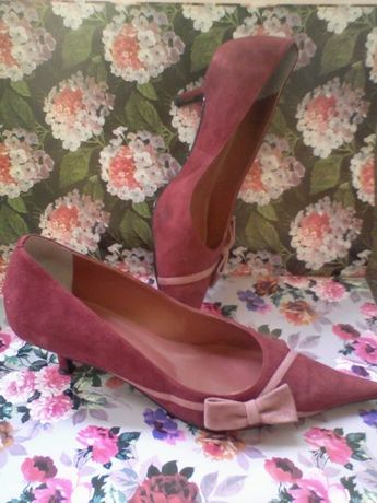 Pantofi Veronesse piele intoarsa grena mar.36 made in Brazil