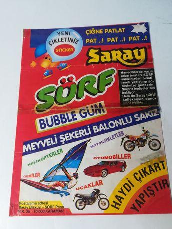 Saray Surf Bubble gum, surprize, sticher vechi, complet, rar