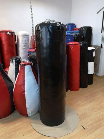 Sac de box Gladiator 150x45 cm Negru Umplut - 80 KG