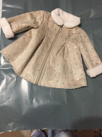 Детско кожено палтенце за момичинце
