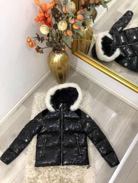 Geaca dama Moncler made in Romania cu blana naturala TOP colectia noua